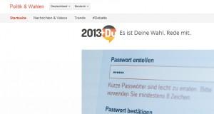 Das Google Tool Trends im Einsatz für die Bundestagswahl