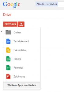 Office umsonst - Google Docs erstellen über Google Drive!