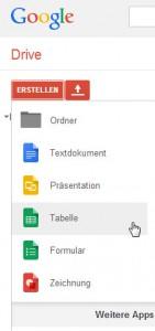 Ein online Dokument erstellen mit Google Docs