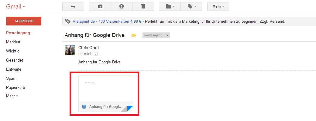gmail anhänge automatisch