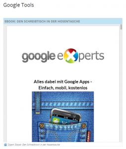 Google Sites - Einbindung von Google Docs