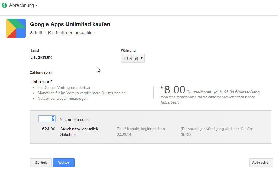 Speziell für Unternehmen: Google Drive for Work und Google Apps Unlimited