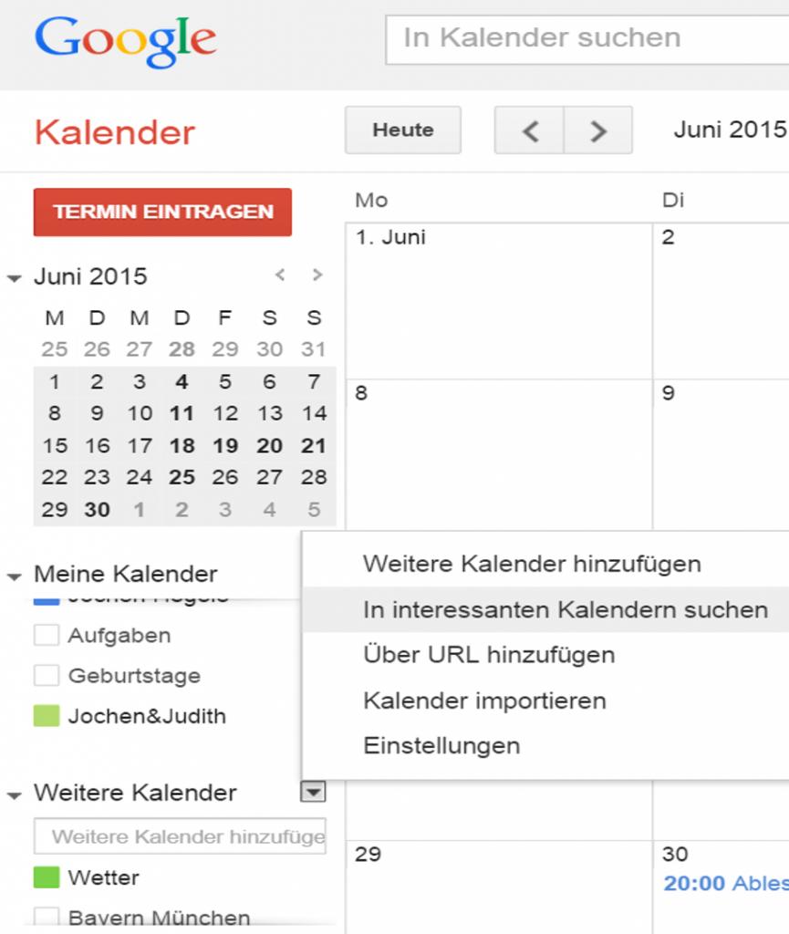 Google Kalender Abonnieren