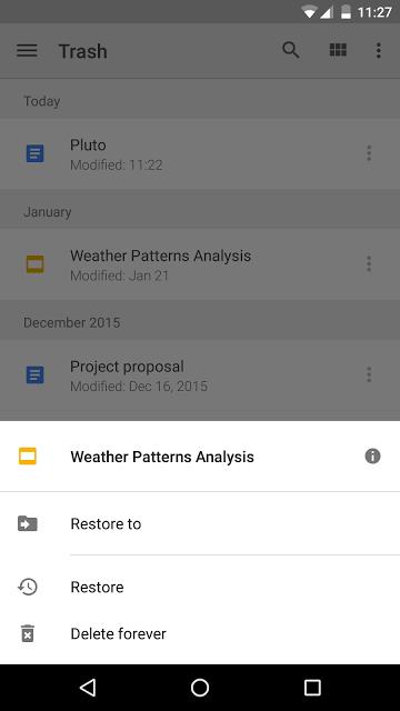 Neue Funktionen in Google Drive fürs Web und für Android