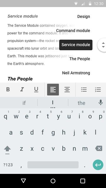 Neue Gliederungsansicht für Google Docs