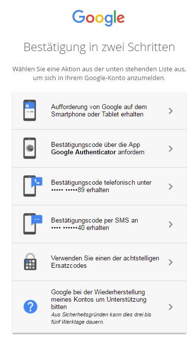 Interhesu: google konto ohne handynummer