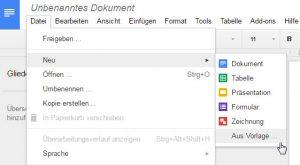 Google Docs Vorlagen Arbeiten Mit Der Neuen Vorlagengalerie