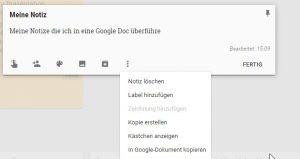 Google Notizen, Googles einfacher Notiz app für Android und iOS